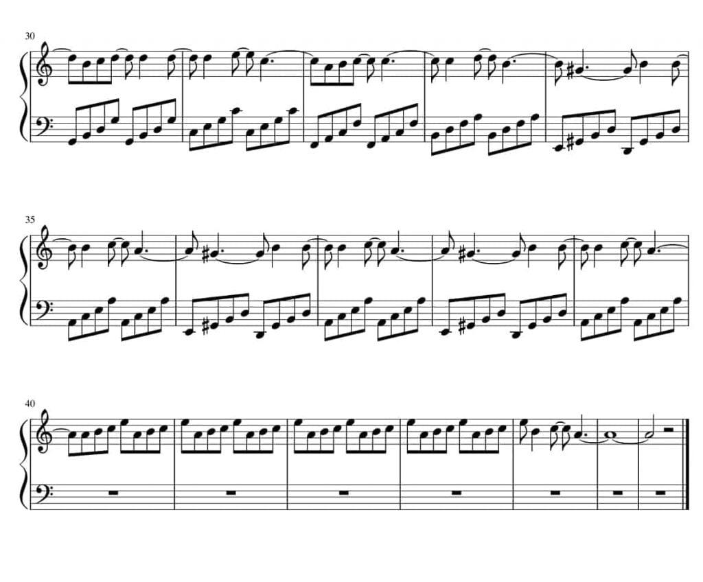fazil say kiz cocugu piyano nota2